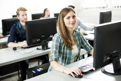 Students in the classroom. Students sitting in the classroom Royalty Free Stock Photography