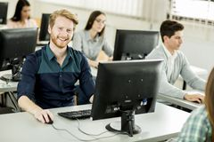 Students in the classroom Stock Image