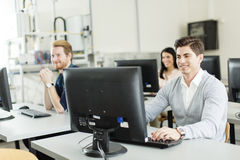 Students in the classroom. Students studying in the classroom Stock Images
