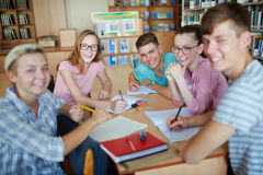Students in classroom Stock Image