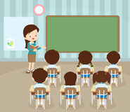 Students in classroom royalty free illustration