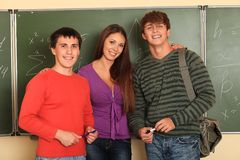 Students of college Royalty Free Stock Images