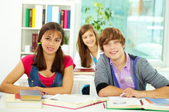 Students at college Royalty Free Stock Images