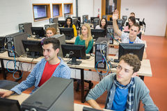 Students in the college computer room Stock Photography