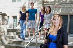 Students at college Stock Photography