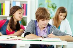 Students at college Royalty Free Stock Photo