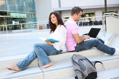 Students at College Studying Royalty Free Stock Images