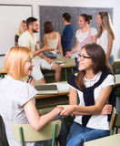 Students communication in the classroom Stock Photos