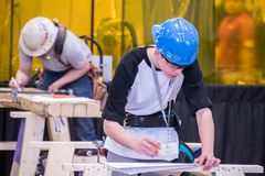 Students Competing at Skills Canada Saskatchewan stock photos