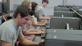 Students in a computer class Royalty Free Stock Photography