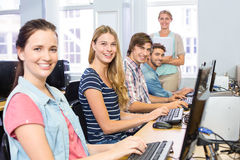 Students in computer class Stock Image