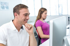 Students in computer class Royalty Free Stock Photography
