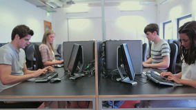 Students in a computer class working Stock Photography