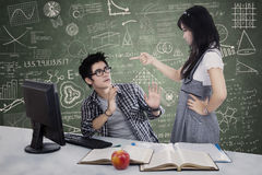 Students conflict Royalty Free Stock Images