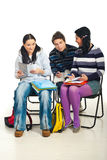 Students conversation Stock Photo