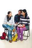 Students conversation in classroom Royalty Free Stock Photos