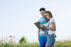 Students couple have meeting Royalty Free Stock Photo