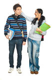 Students couple having fun Stock Photos