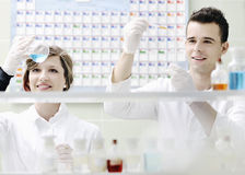 Students Couple In Lab Royalty Free Stock Photo