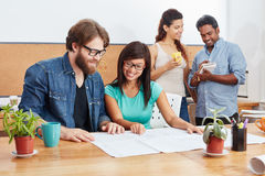 Students in coworking office Royalty Free Stock Photos
