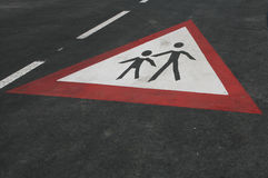 Students crossing sign Royalty Free Stock Photos