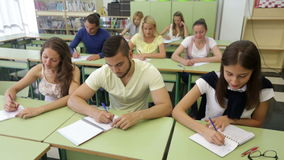 Students of different age at extension courses stock footage