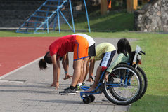 Students with disabilities Stock Image