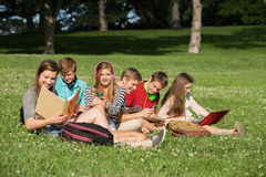 Students Doing Homework Royalty Free Stock Photography