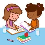 Students doing homework Royalty Free Stock Photo