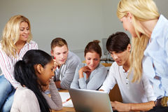 Students doing internet research Royalty Free Stock Photo