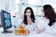 Students doing research in the lab Royalty Free Stock Photos