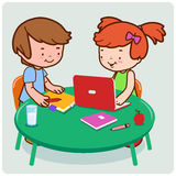 Kids studying Royalty Free Stock Image