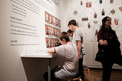 Students enjoy interactive color study at Portland Art Museum Royalty Free Stock Photography