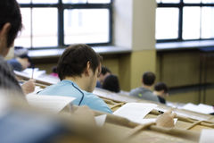 Students during exam Stock Images
