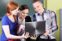 Students during exam Royalty Free Stock Photos
