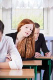 Students during exam Royalty Free Stock Photography