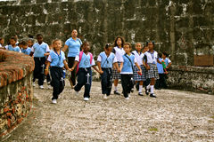 Students on excursion, Cartagena, Colombia Stock Images