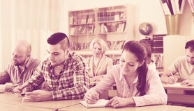 Students at extension courses Royalty Free Stock Photos