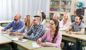 Students at extension courses Royalty Free Stock Images