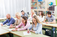 Students at extension courses Royalty Free Stock Photo