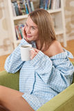Students - Female teenager wearing pajamas Stock Photos