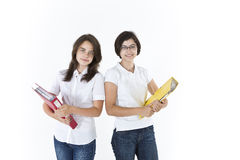 Students with folders Stock Photography
