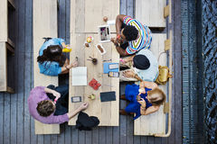 Students Friends Meeting Discussion Studying Concept Royalty Free Stock Image