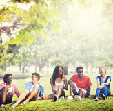 Students Friendship Team Relaxation Holiday Concept Stock Photography