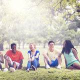 Students Friendship Team Relaxation Holiday Concept Stock Photos