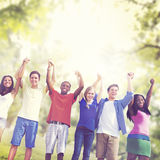 Students Friendship Team Relaxation Holiday Concept Royalty Free Stock Photography