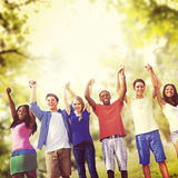 Students Friendship Team Relaxation Holiday Concept Royalty Free Stock Image