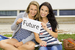 Students and is Future. Concept about students thinking about is future after secondary school Stock Images