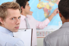 Students in geography. Stock Photography