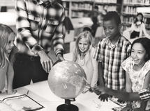 Students Geography Learning Classroom Concept Royalty Free Stock Image